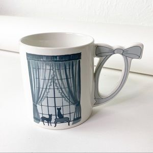 Vintage Cats Window Bow Handle Curtains Mug Cup